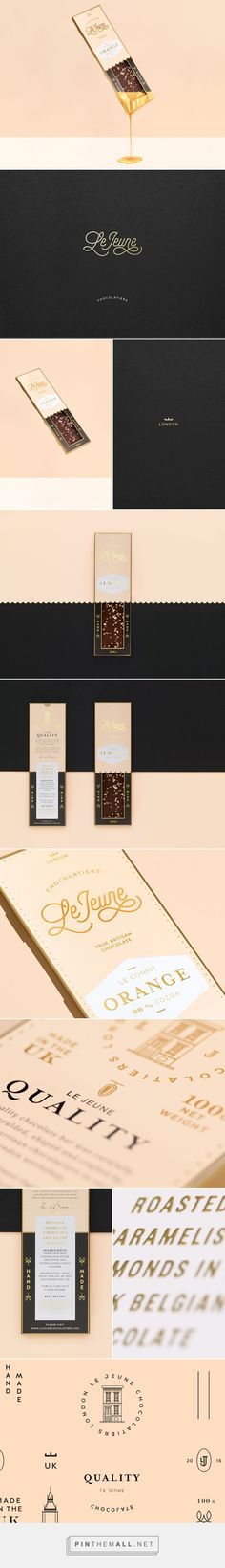 LE JEUNE Chocolatiers by Studio Chapeaux. Source. Behance. Pin curated by #SFields99 #packaging #design #inspiration #chocolate #premium #artisan