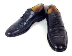 MEZLAN-Shoes-LEATHER-Black-OXFORDS-Lace-Up-DRESS-Split-Toe-SPAIN-Mens-11-5-M