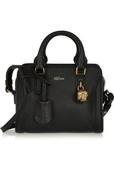 81e81a5260 Alexander McQueen Padlock mini textured-leather shoulder bag