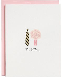 Paper Source Mr. and Mrs. Wedding Card from Paper Source | BHG.com Shop