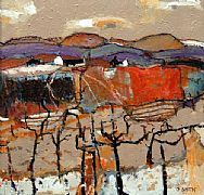 Fruit Farm at Dunkeld, Perthshire by David Smith part of our Scotsmen exhibition in Long Melford gallery from 9.2.13 www.limetreegallery.com