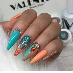 Multi Coloured Nails New Trend And Best Designs