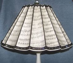 lamp shade for the music room. #music #interiors #lamps #musicinteriors http://www.pinterest.com/TheHitman14/music-interiordecor-%2B/