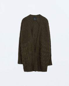ZARA - NEW THIS WEEK - OVERSIZE CABLE KNIT CARDIGAN