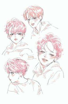 Read from the story 🍑JIMIN BOTTOM🍑 by Alicia_tu_kuinza (☆*𝓐𝓵𝓲𝓬𝓲𝓪*☆) with reads. Jimin Fanart, Exo Fanart, Yoonmin Fanart, Kpop Drawings, Amazing Drawings, Bts Chibi, Fanarts Anime, Drawing Reference, Cute Art