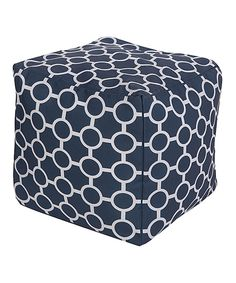 Do, with 18 in sq napkins --- This Cobalt Circles Cube Pouf by Surya is perfect! #zulilyfinds