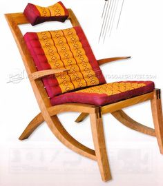 #2553 Lounge Chair Plans - Furniture Plans