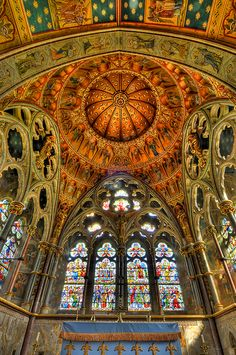 Church of St. Mary, Studley Royal, Yorkshire, England.  architect:  William Burges, built 1871-1878,  by Chuck Robinson