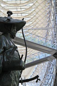 Ota Dokan statue at the Tokyo International Forum, Japan