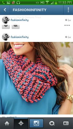 Colorful knit scarf