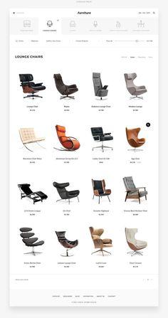 Ecommerce Web Design, Web Ui Design, Layout Design, Web Layout, Cool Furniture, Furniture Design, Laminate Furniture, Trendy Furniture, Wicker Furniture