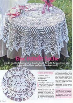 Kira scheme crochet: Scheme crochet no. Crochet Round, Crochet Home, Easy Crochet, Thread Crochet, Filet Crochet, Crochet Motif, Crochet Table Topper, Crochet Tablecloth Pattern, Crochet Dollies