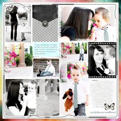 MILES & MOMMY This special photo shoot of Melissa and Miles was a Father's Day gift for Logan. His sister, Tara Bowman, was the photographer. Her photos are always awesome!! ~ June 2010 Credits: Template: MyArtyPockets1-D by Heartstrings Art Scrap Papers: OneStepBeyond#45 by Boo Land Designs; Photographed in Black and White by Sue Cummings