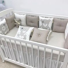 Baby Crib Bumpers, Baby Crib Bedding, Baby Pillows, Baby Bedroom, Baby Boy Rooms, Baby Room Decor, Baby Cribs, Home By, Kit Bebe