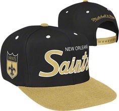 Throwback New Orleans Saints Mesh 9Fifty Snapback Cap wood