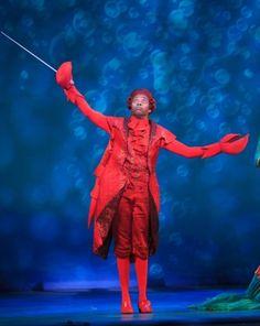 Alan Mingo, Jr. as Sebastian the Crab in<em>Disney's The Little Mermaid</em>at Dallas Summer Musicals