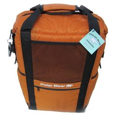 Finally the long awaited Polar Bear Backpack Cooler! You wanted a Backpack cooler that will keep it cold all day long and get you wherever you want to go. Now you got it! The Polar Bear Backpack Cooler will hold 24 - 12 oz cans and a bag of ice and keep it cold all day long on the hottest day you've got. This product is built with the same 5-layer insulation system as all Polar Bear coolers, including our leak proof / sweat proof Dura - Temp ™ liner.
