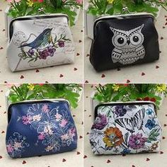 Owl Bird Flower Wallet