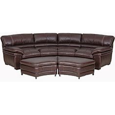 Curved Sectional Sofa with 2 storage ottomans