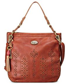 Fossil Handbag, Campbell Leather Hobo - Hobo Bags - Handbags & Accessories - Macy's
