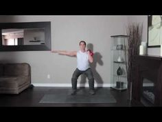 Single-Arm Kettlebell Front Squat Hold a kettlebell in your hand and extend your arm so it's directly above your head, with your legs shoulder-width apart. Bend your knees and lower yourself into a squat, keeping the kettlebell extended. Use your other arm to balance, then return to starting position and repeat.