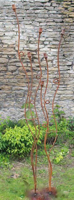 Andy Sturgeons copper circles Sculpture Pinterest Gardens - allium beetstecker aus metall