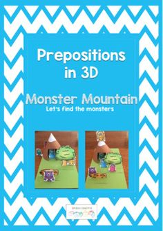Are your clients starting work on prepositions?  Then this resource is for you. Monster Mountain is a 3d game which makes it easy to teach prepositions before moving to 2d activities.  This resource can be used in a number of ways:Teaching prepositionsFollowing instructions (receptive)Giving instructions (expressive) Combination of both  a referential game where one person gives instructions and the other person follows them.