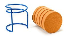 Scrw (Manuel Welsky, 2012): a cork stool based on the principle of screwing.
