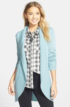 Frenchi Shawl Collar Cardigan (Juniors) on shopstyle.com