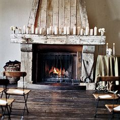 A beautiful fireplace