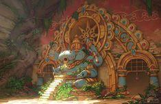 ArtStation - Hippopura - Sanctuary of Bubbles, Jourdan Tuffan Environment Concept, Fantasy Landscape, Work Inspiration, Background Images, Art Inspo, Vector Art, Concept Art, Illustration Art, Scene