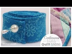 Continuous Bias Binding EASIEST METHOD How To - Whitney Sews - YouTube