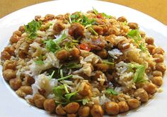 Choley Biryani is a hearty one dish meal with interesting texture and flavors.
