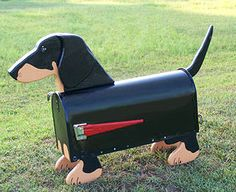 Black Dachshund Mailbox