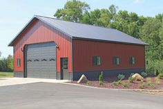 Brick Shed Ideas - Simplifying Significant Factors In Wood Shed Plans - John Britton Residential Steel Buildings, Steel Garage Buildings, Pole Buildings, Metal Garages, Shop Buildings, Metal Storage Buildings, Metal Shop Building, Building A Pole Barn, Post Frame Building