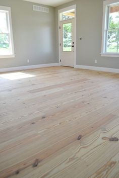 Yellow pine floors finished with tung oil