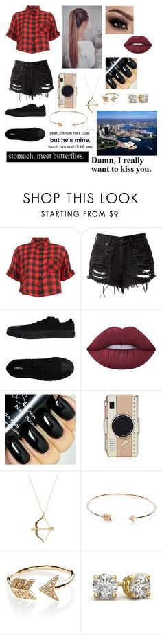 """""""Bayleigh #20"""" by nukehemmings ❤ liked on Polyvore featuring Innocence, Converse, Lime Crime, Kate Spade, Sydney Evan, EF Collection and Love Quotes Scarves"""