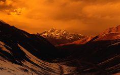 Everest under sunset