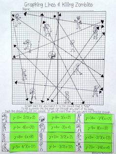 math worksheets point slope puzzles equation and activities on pinterestalgebra 1 worksheets. Black Bedroom Furniture Sets. Home Design Ideas