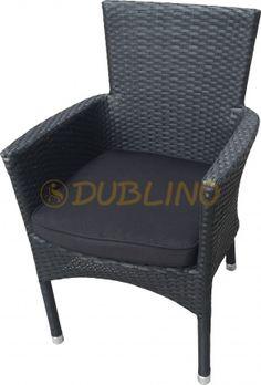 DL RITZ BRUSHED BLACK - Exterierové kreslo s hliníkovou konštrukciou a výpletom z umelého ratanu Lounges, Armchair, Furniture, Black, Home Decor, Sofa Chair, Single Sofa, Decoration Home, Black People