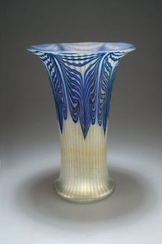 Johann Lötz Witwe, Klostermühle, Iridescent Glass Vase.