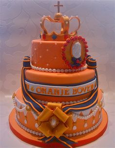Royal Dutch Wedding Cake via Cakes By Tessa