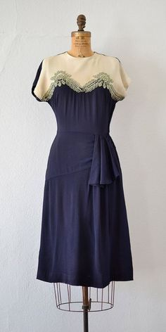 vintage 1940s dress | Manor Hamilton Dress from Adored Vintage #1940s #40svintage