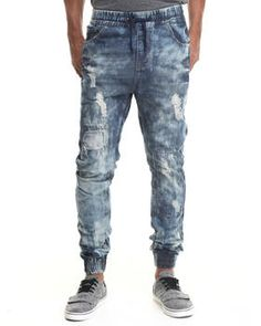 Find Ripped Detail Jogger Denim Jeans Men's Jeans & Pants from Buyers Picks & more at DrJays. on Drjays.com