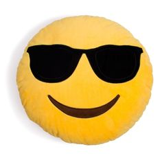 Cool Guy Sunglasses Emoji Pillow – Shelfies - Outrageous Clothing