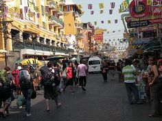 Khaosan Road or Khao San Road (Thai: ถนนข้าวสาร) is a short street in central Bangkok, Thailand. It is located in the Banglamphu area.