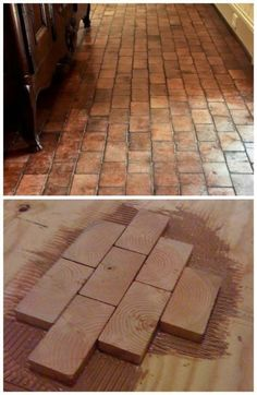 How To Easily Create A Hardwood Floor Using 2x4 Slivers
