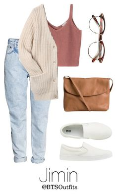 """""""When you First Meet Him: Jimin"""" by btsoutfits ❤ liked on Polyvore featuring H&M, Acne Studios, Pieces and Uniqlo"""