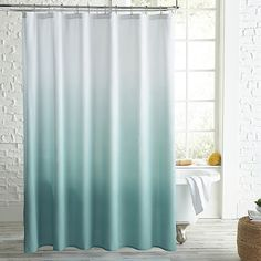 Ombre Shower Curtain, Beach Shower Curtains, Green Shower Curtains, Long Curtains, Shower Curtain Sets, Light Blue Shower Curtain, Beachy Curtains, Velvet Curtains, Aqua Bedding