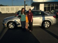 Madeline Larsen of Ocean Springs was excited about her new car, this 2015 Chevrolet Cruze, and we are excited for her! She is pictured here with her friend and her daughter, Ella. Natalie Nishida was her Sales Consultant.